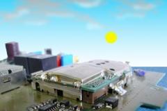 lucht met zon + printplaatlandschap 2